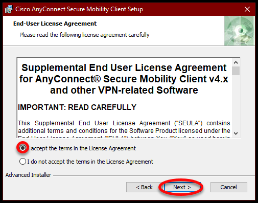 Make Sure The I Accept The Terms In The License Agreement Option Is Selected Then Click Next