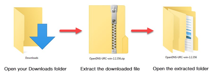 Extract the downloaded file and open the folder