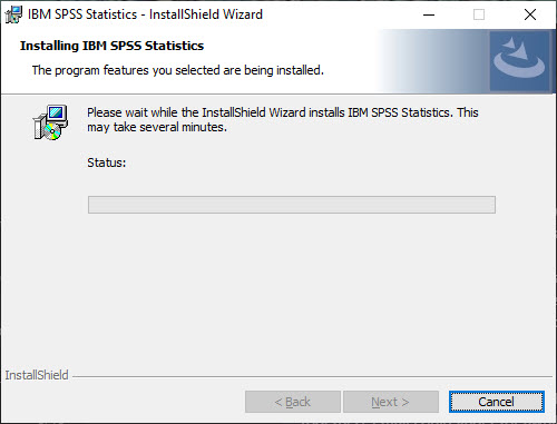 Installing IBM SPSS no action needed