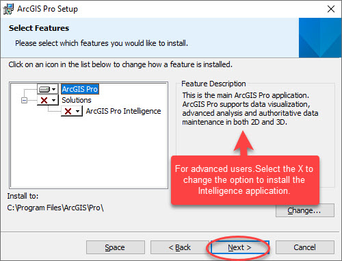 ArcGIS Pro Install solution selection