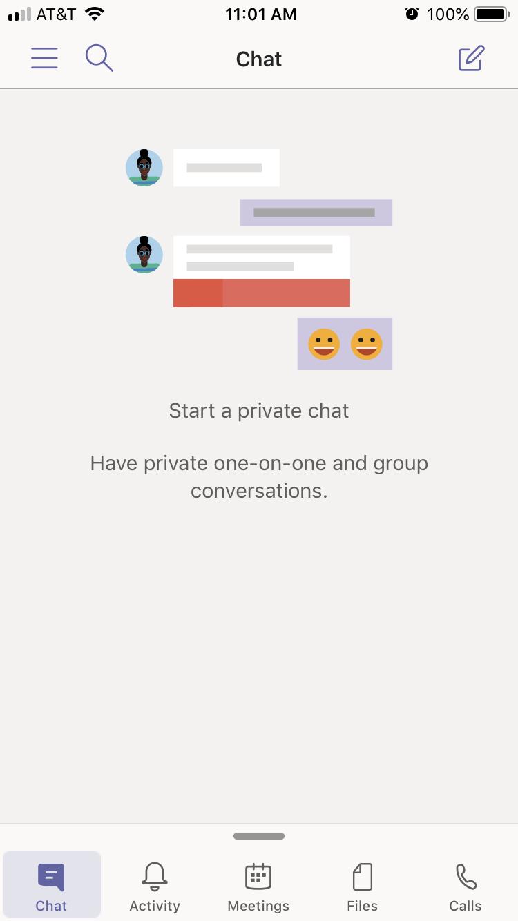 Microsoft Teams Chat window