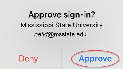 Screenshot for step 8 showing the approve sign-in prompt on a mobile device