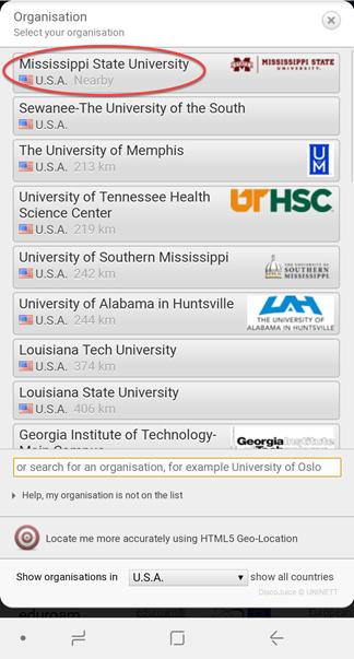 Click on Mississippi State University
