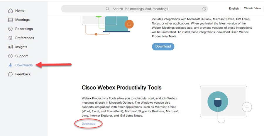 Article Adding The Webex Plugin To