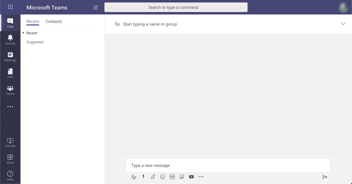 Screenshot showing Microsoft Teams on the web
