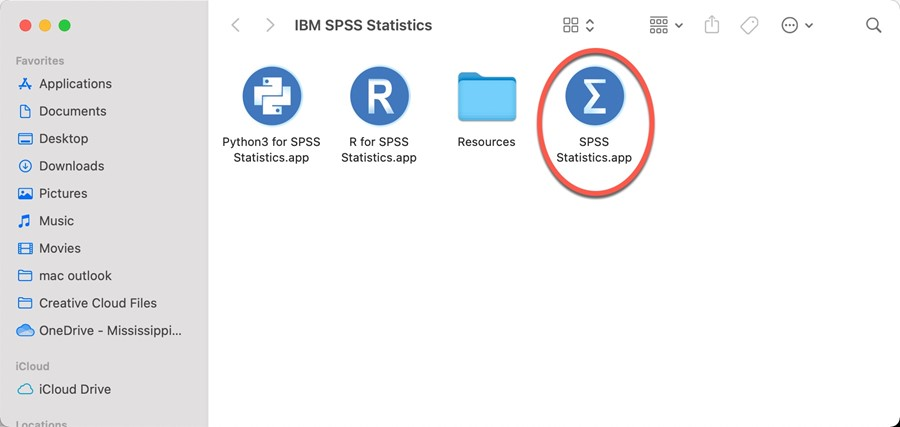 Launch SPSS
