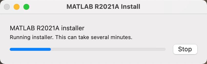 installer running