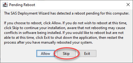 Prompt to reboot